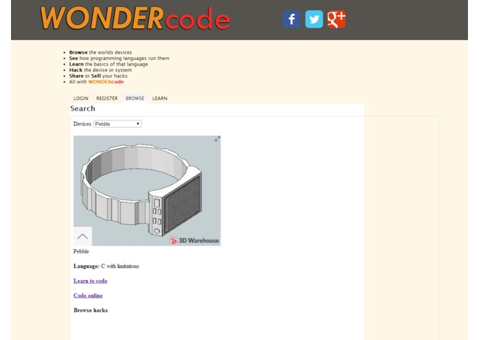 WONDERcode – screenshot 1