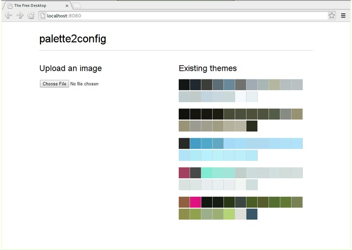 palette2config – screenshot 1