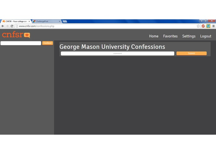CNFSR - The College Confessions Website – screenshot 3