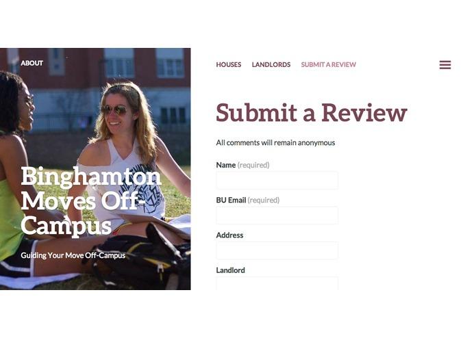 Binghamton Moves Off-Campus – screenshot 1