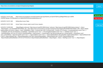 Concur Windows 8 Sample Code (OAuth 2.0)