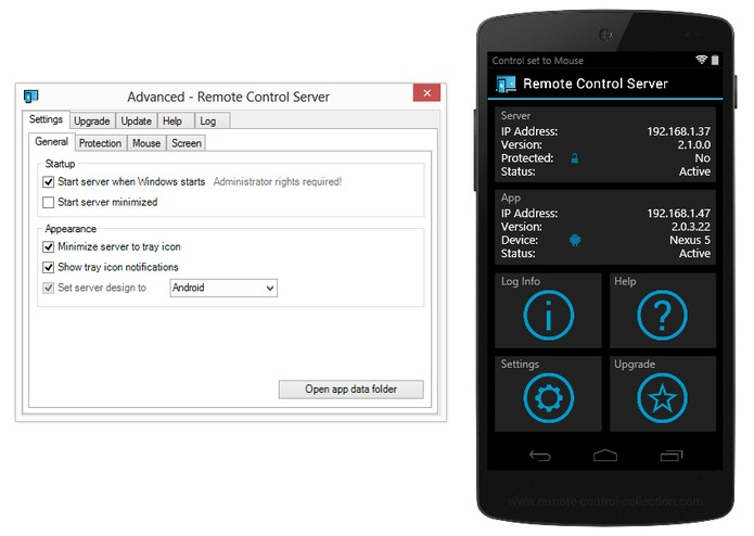 Remote Control Server – screenshot 1