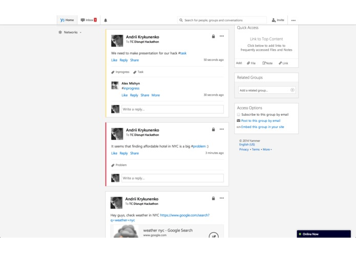 Yammer Taskinator – screenshot 1