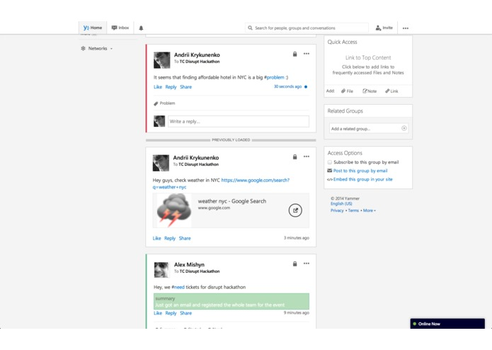 Yammer Taskinator – screenshot 2