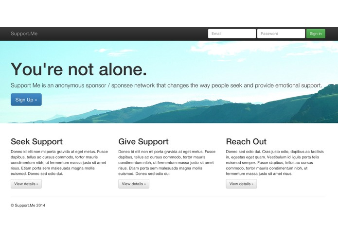 SupportMe – screenshot 1