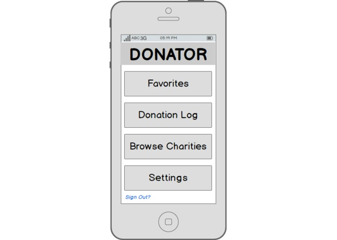Donator – screenshot 2