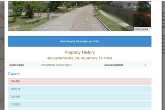 City of Houston Blighted Properties