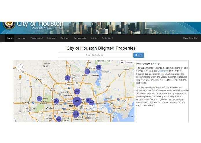 city of houston blighted properties screenshot 2