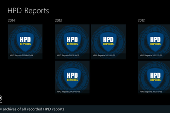 HPD Reports - A Mobile Framework Proof of Concept