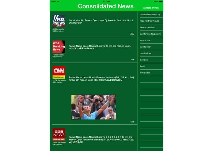Consolidated News – screenshot 1
