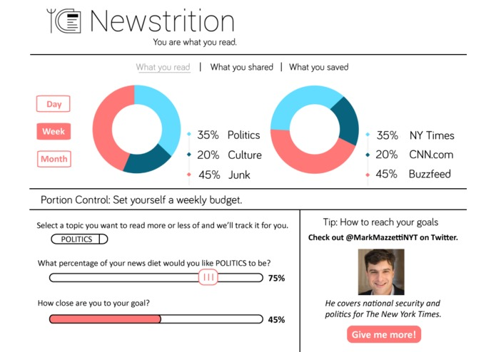 Newstrition – screenshot 1