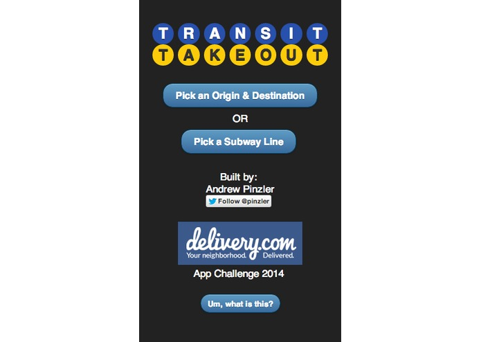 Transit Takeout – screenshot 1