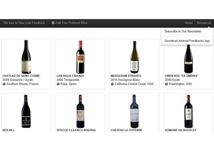 Wine Feedbacks App – screenshot 2
