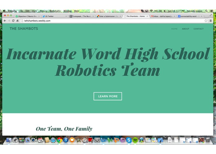 Shambot Website – screenshot 2