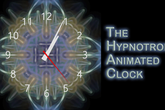 Hypnotron Animated Clock