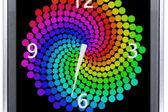 Spiraltron Animated Clock