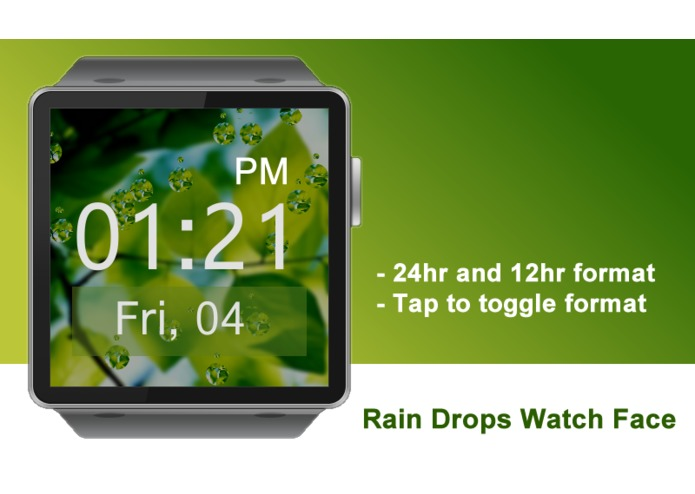 Rain Drops Watch Face for Gear 2 – screenshot 1