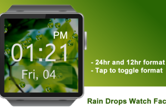 Rain Drops Watch Face for Gear 2