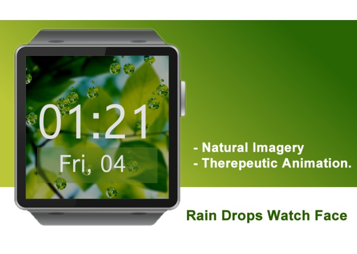 Rain Drops Watch Face for Gear 2 – screenshot 2