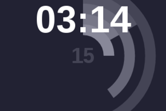 Dynamic Circles Clock