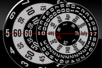 Rotating Disc Dial Watch