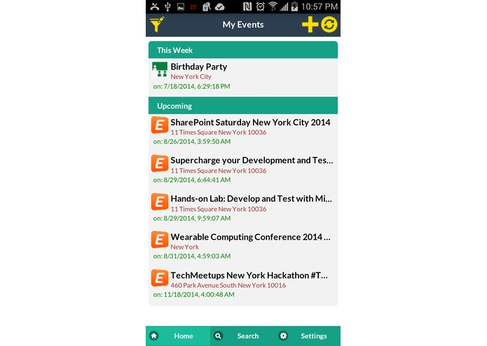 Events Hub – screenshot 2
