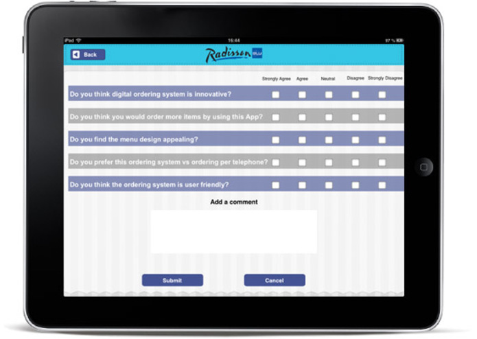 Customer Survey – screenshot 1