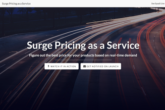 Surge Pricing as a Service