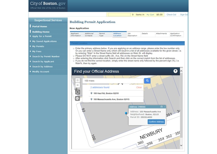 City of Boston Official Address Search – screenshot 7