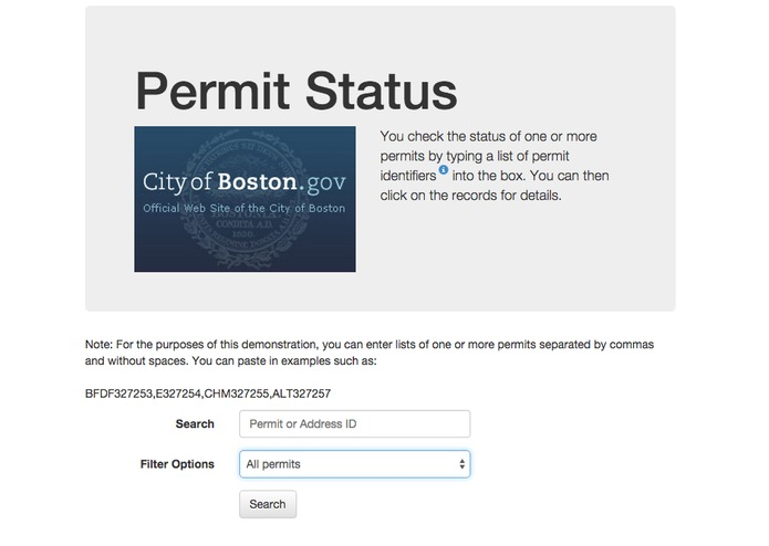 City Permit Status Tool – screenshot 4