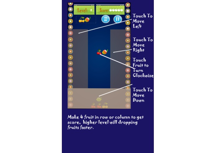 Fruit Tetris – screenshot 1