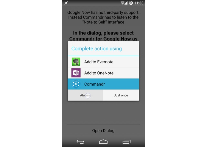 Commandr for Google Now – screenshot 7