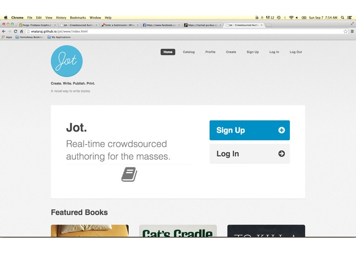 Jot – screenshot 2