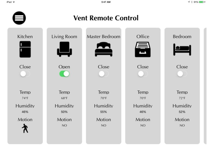 Ventix Smart Vent System – screenshot 3