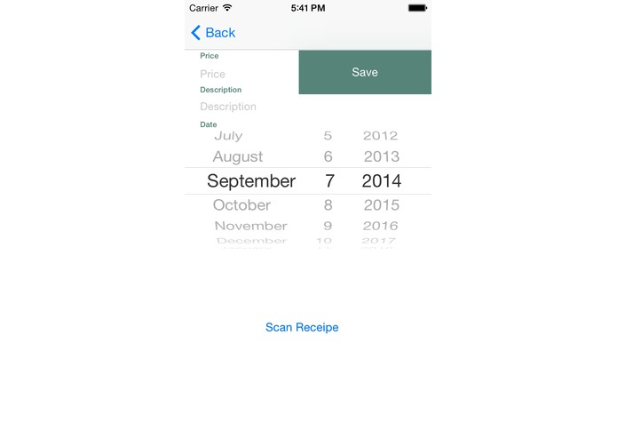 ReceiptTracker for Evernote – screenshot 2