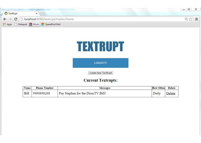Textrupt – screenshot 1