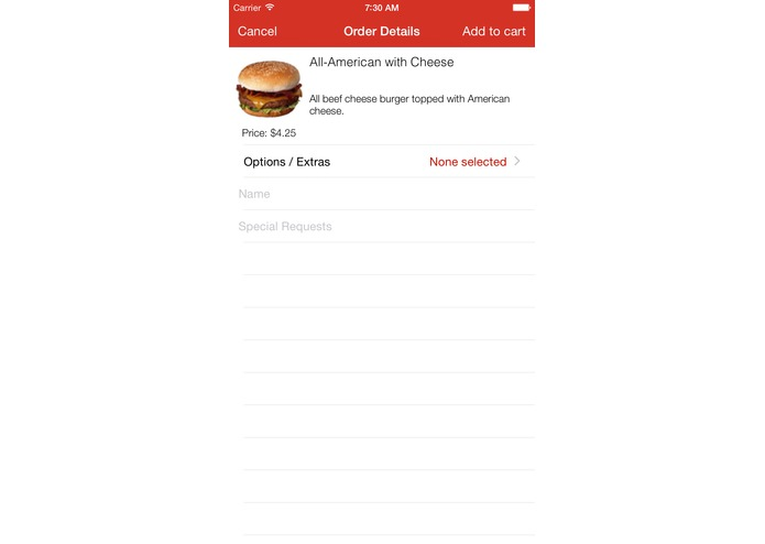 Iowa State WebFood Mobile App – screenshot 3