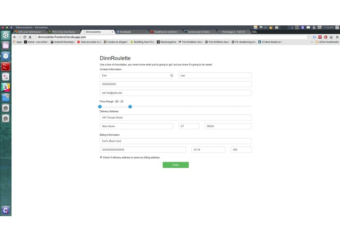 Food Factor Authentication – screenshot 2
