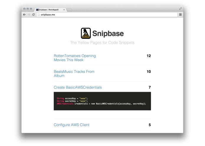 Snipbase – screenshot 1