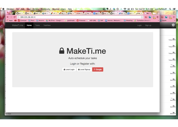 MakeTime – screenshot 1