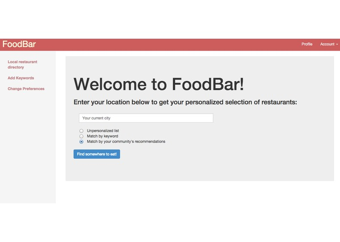 FoodBar – screenshot 1
