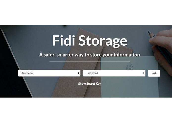 FIDI Storage – screenshot 1
