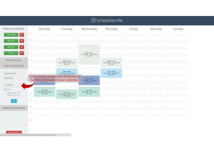 Schedulize Me – screenshot 4