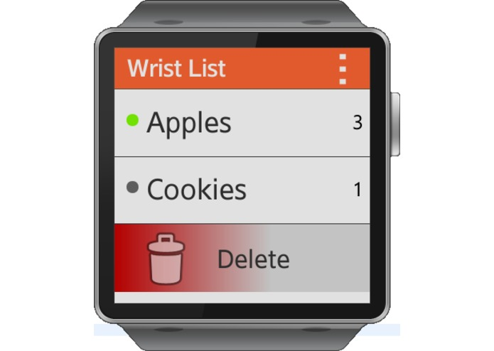 Wrist List – screenshot 2