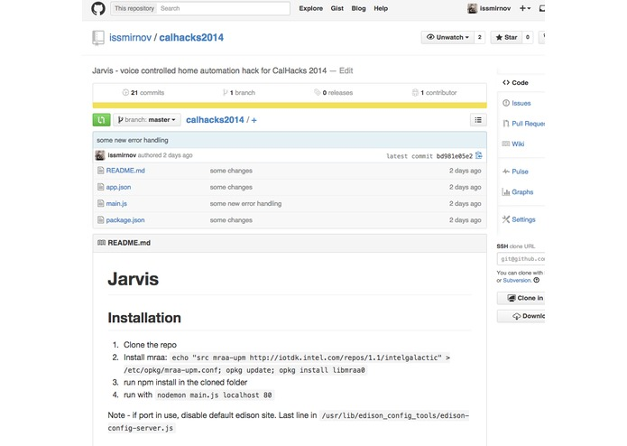 Jarvis – screenshot 2