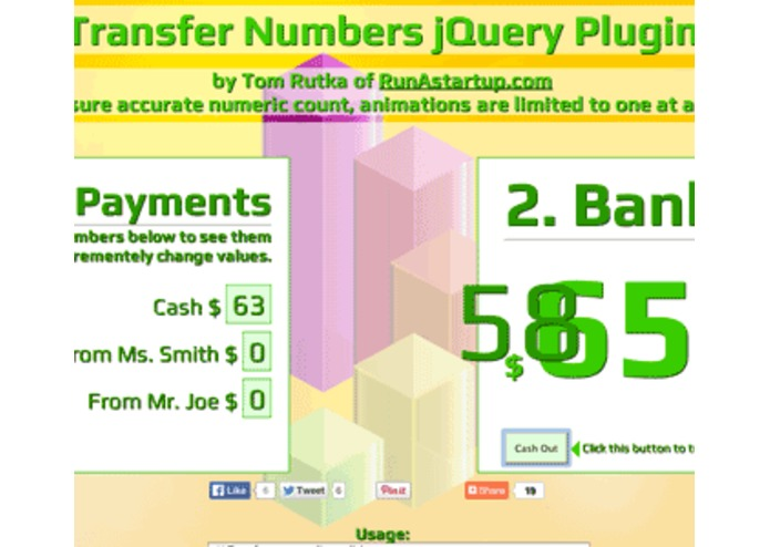 Transfer Numbers by Animation – screenshot 1