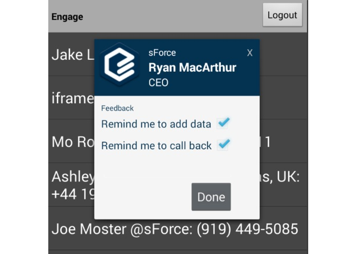 Engage: Mobile Sales Call Intelligence – screenshot 4