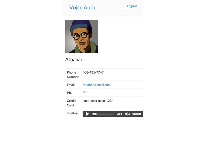 VoiceAuth – screenshot 4