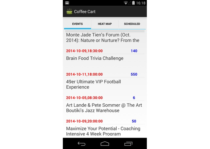 Coffee Cart Mobile app – screenshot 2