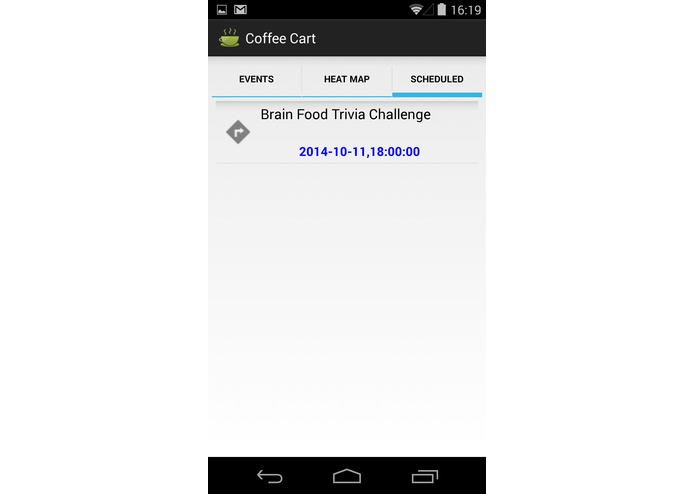 Coffee Cart Mobile app – screenshot 3